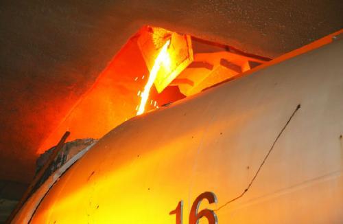 使用热像仪检测鱼雷罐车