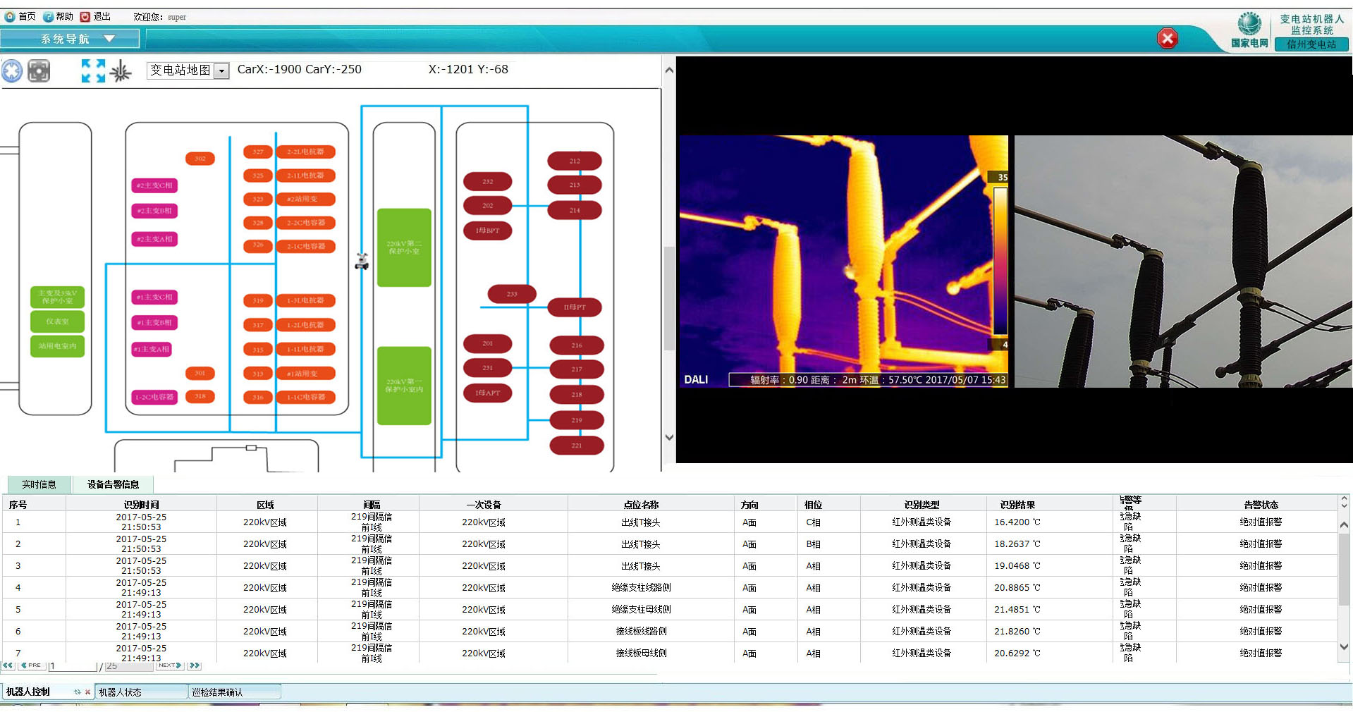 变电站电力巡检机器人系统软件功能简介